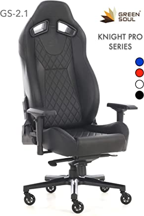 Green Soul Knight Pro Series Gaming/Ergonomic Chair PU Leather (GS-2.1) (Black) (Size - Large)