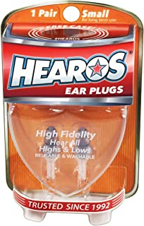HEAROS High Fidelity Series Ear Plugs for Comfortable Long Term Use with Free Case, 1 Pair