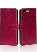 YIDA Leather Flip iPhone XR Wallet Case with Kickstand iPhone Wallet Case (Bling Bling Red)