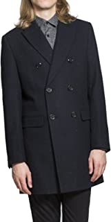 Harry Brown Double Breasted Wool Coat in Navy S to 3X