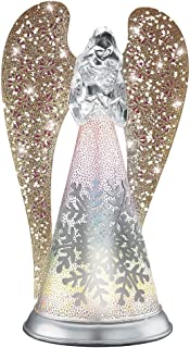 Collections Etc Lighted Glitter Angel Figurine