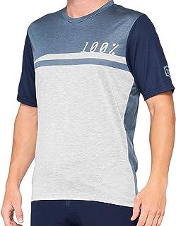 100% Airmatic shirt heren grijs 2021 fietsshirt korte mouwen
