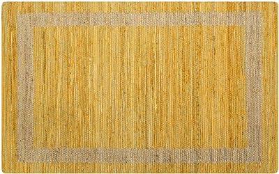 Festnight Alfombra de Yute Rectangular 160 x 230 cm Amarillo y ...