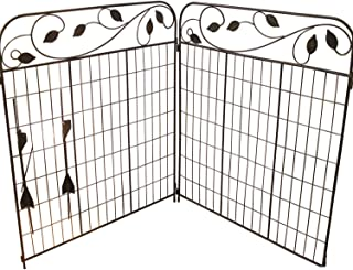 Best Amagabeli Decorative Garden Fence Coated Metal Outdoor Rustproof 44in x 6ft Landscape Wrought Iron Wire Fencing Gate Border Edge Folding Patio Fences Flower Bed Animal Barrier Section Edging Black Review