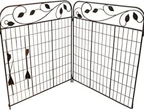 Amagabeli Decorative Garden Fence Coated Metal Outdoor Rustproof 44in x 6ft Landscape Wrought Iron Wire Fencing Gate Borde...