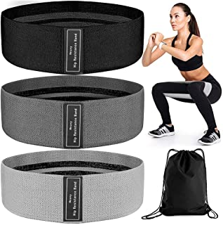 3 Pack Booty Bands, Non Slip Resistance Bands for Legs and Butt, Workout Bands Fitness Exercise Loop Bands Glute Bands for...