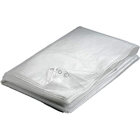 WerkaPro 10729 - Bâche transparente - 4 x 6 m - 160 g/m2 - En polyéthylène - Traitée contre les UV