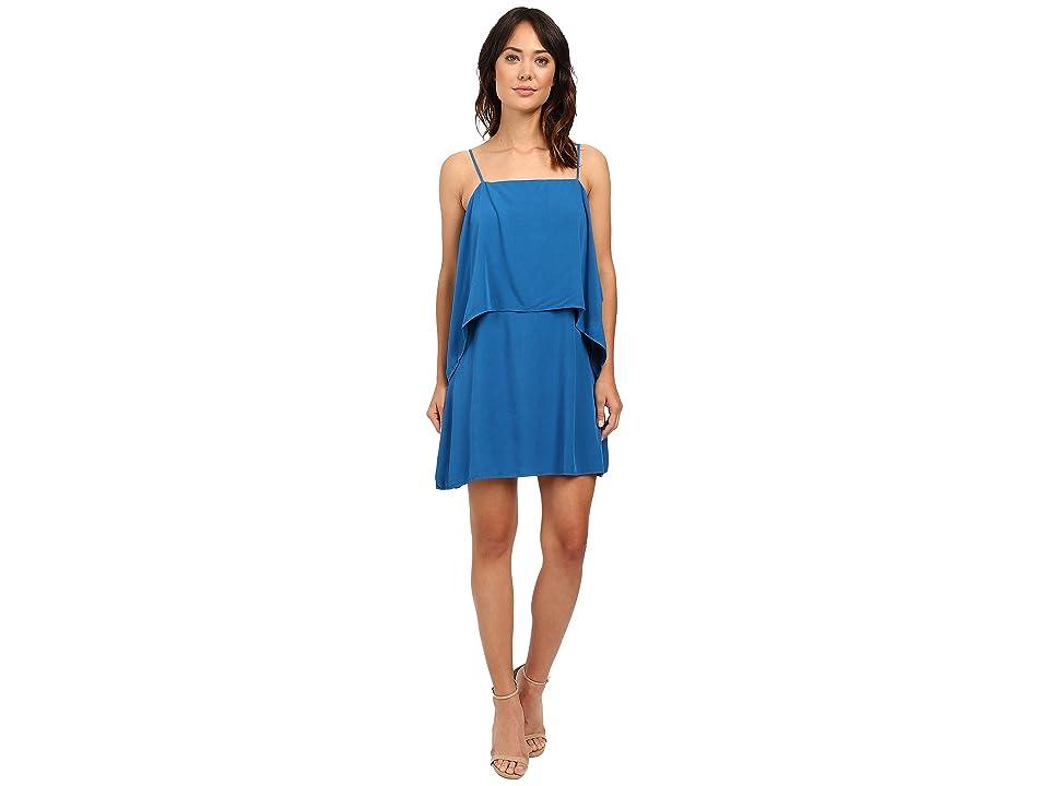 Splendid Rayon Voile Tiered Dress (Regatta Blue) Women