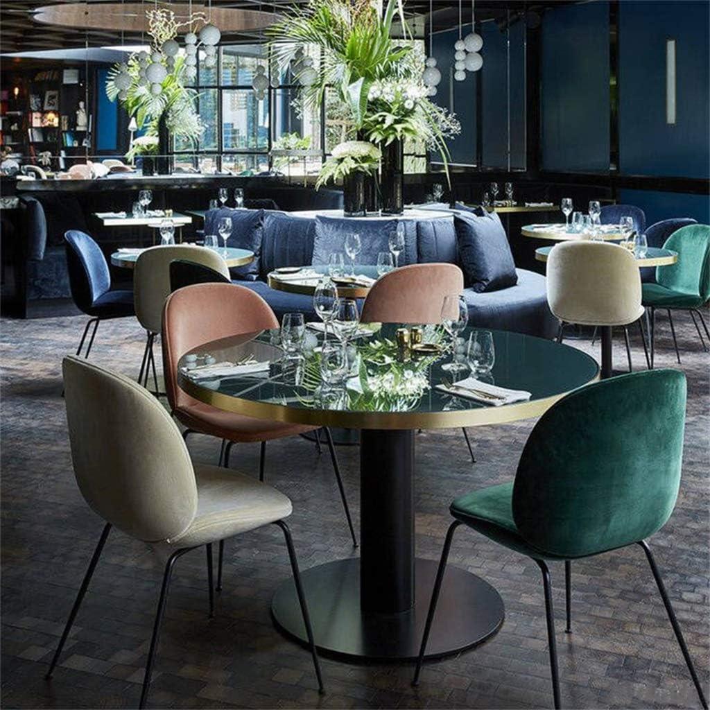 YJT.cy Chaises de Salle à Manger Jambes en métal Noires Chambre Chaise tapissée Coiffeuse Velvet Cushion Salon Chaises de Loisirs Chambre 57 × 52 × 85 cm Green