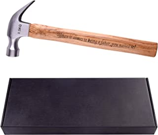 TUPARKA 500g/17.63oz Wood Handle Steel Hammer Tool Hammer for Daily Repair Tools