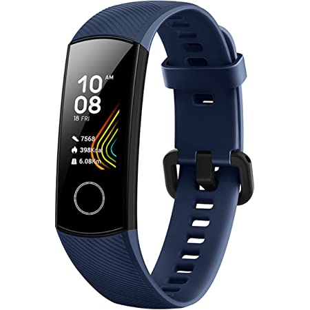 Honor Band 5 Fitness Tracker, Monitoraggio SpO2, Battito Cardiaco 24/7 e Sonno, Display Touch AMOLED 0.95 Pollici, Schermo Curvo da 2.5D, Midnight Navy
