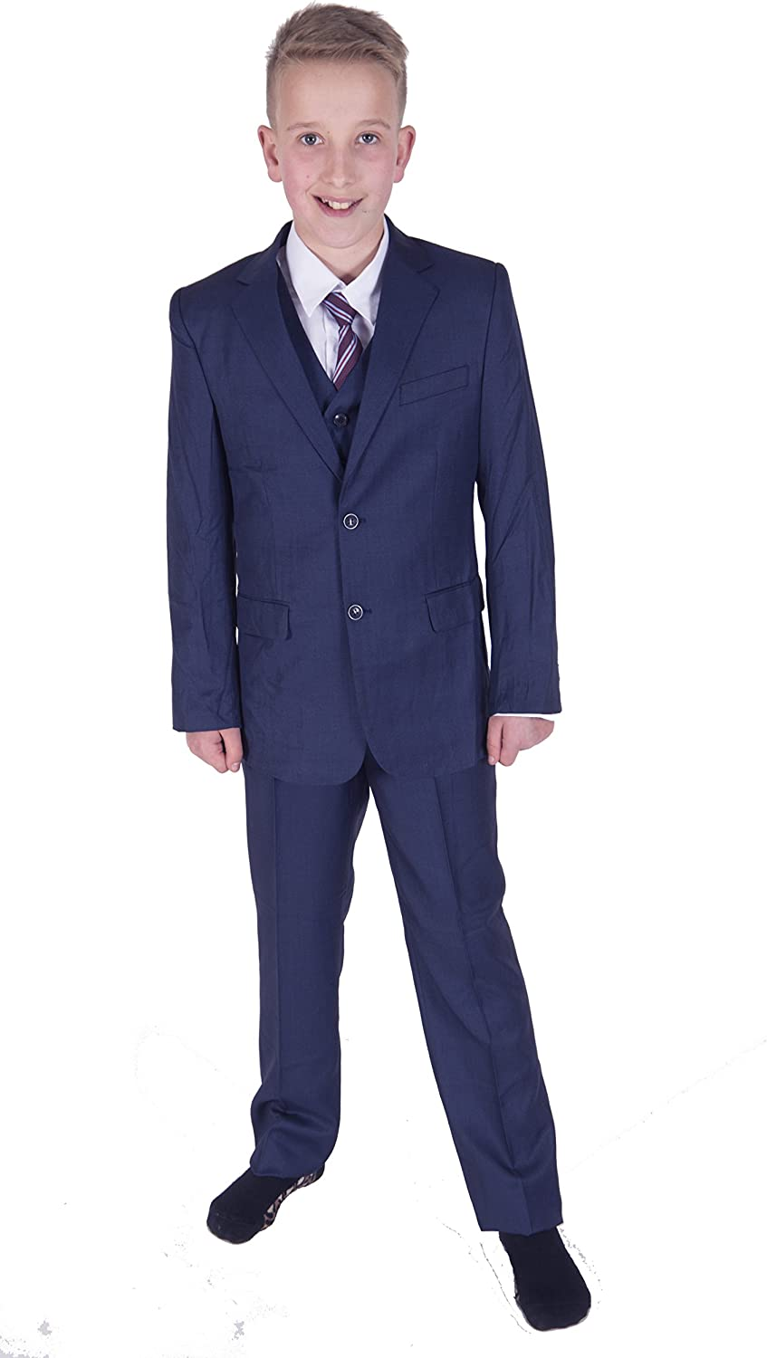 Cinda Boys Formal Blue Suits Wedding Pageboy Party Prom 5 Piece Suit