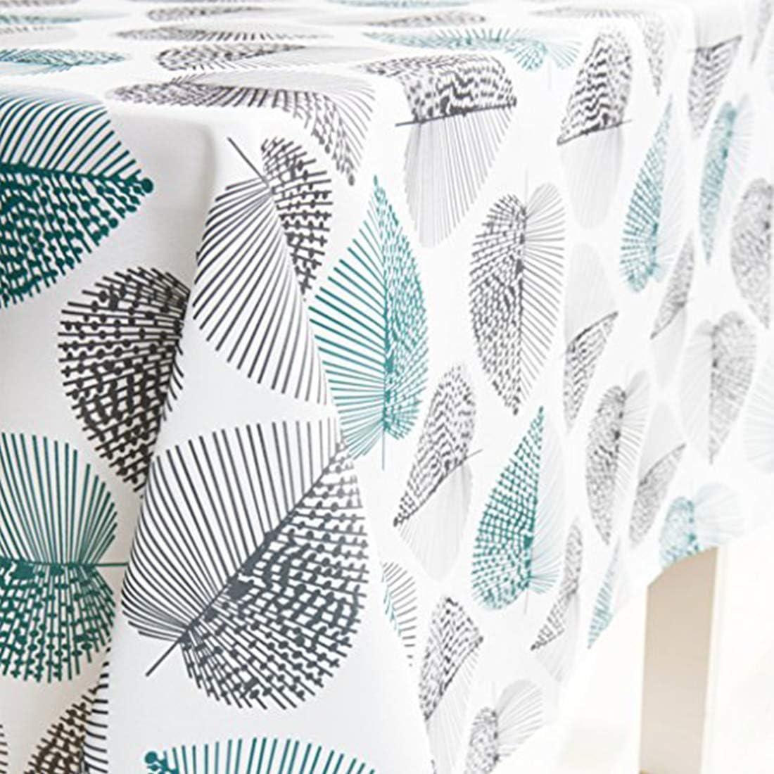X-Labor - Mantel lavable rectangular, resistente al agua, tejido Oxford, fácil de limpiar, para jardín, habitaciones, decoración de mesa, verde menta, 140*200 cm