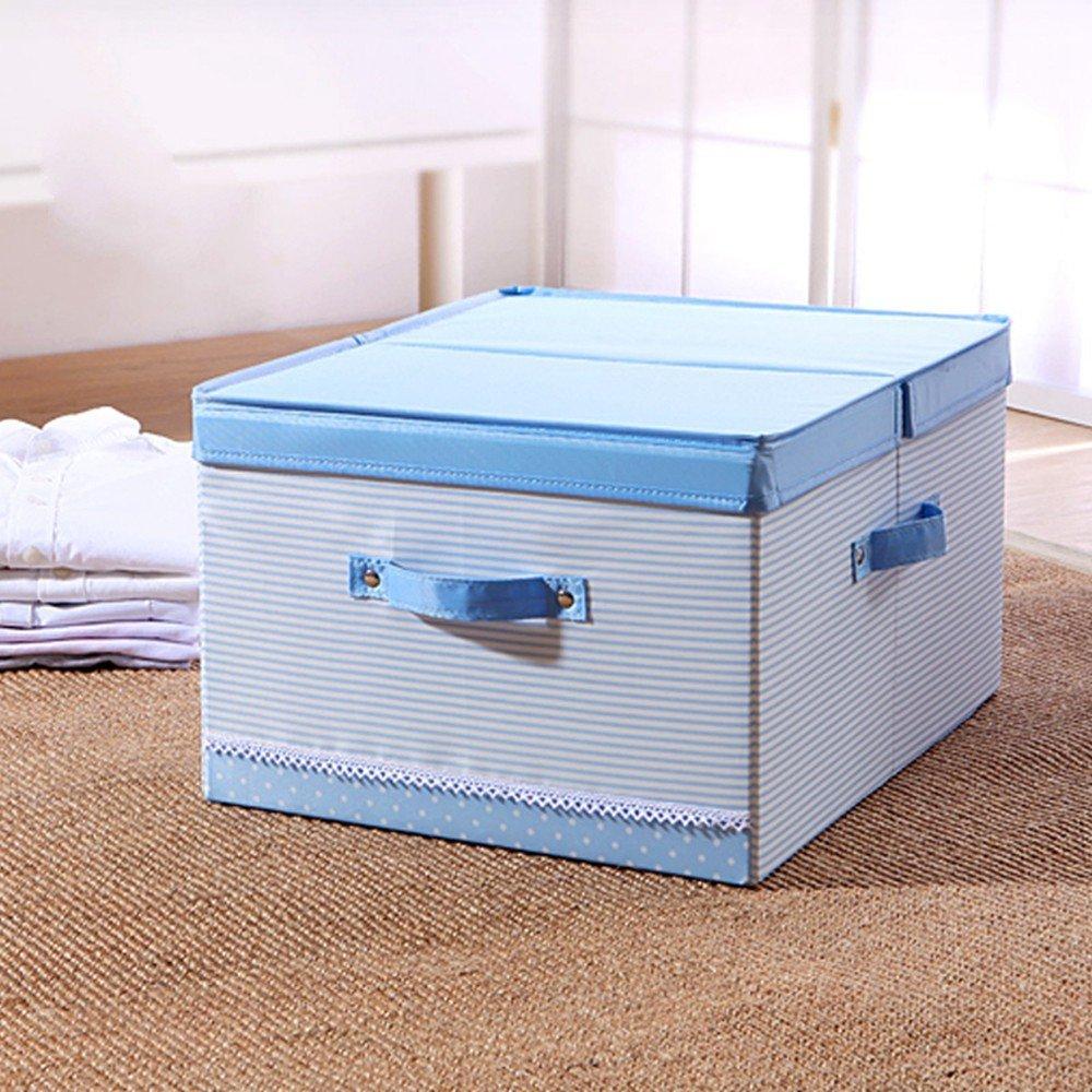 Caja de almacenamiento MinegRong caja de almacenaje de ropa Oxford tela utilizada como materia prima adecuada para el uso en casa y en la caja de almacenamiento de juguete,37*45*25cm,Rosa trompeta: Amazon.es: Hogar