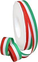 Morex Ribbon Polyester Grosgrain Striped Decorative Ribbon, 20 Yard, Italian, 5/8 in