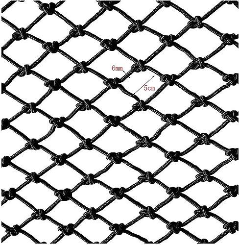 ZGQSW Filet De Corde Noire, Filet De Prougeection De Balcon pour Enfants, Filet De Sécurité Escalier Anti-Chute Filet De Jardin d'enfants Décoration Net Filet Tissé à La Main 1m2m3m4m (Taille   4  5m)