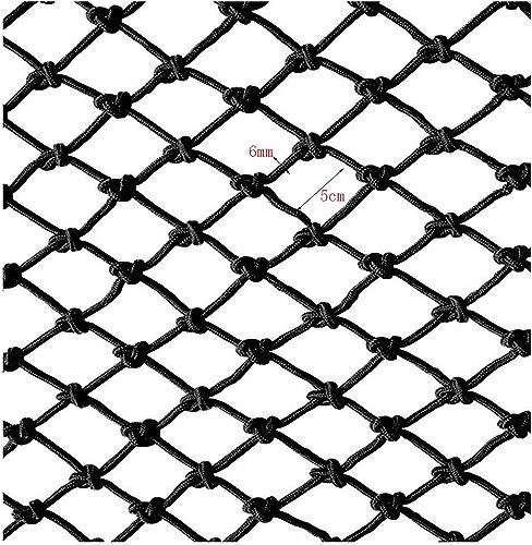 ZGQSW Filet De Corde Noire, Filet De Prougeection De Balcon pour Enfants, Filet De Sécurité Escalier Anti-Chute Filet De Jardin d'enfants Décoration Net Filet Tissé à La Main 1m2m3m4m (Taille   2  7m)