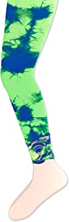 Girls' Lace Tie Dye Footless Tights