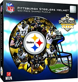 MasterPieces NFL Pittsburgh Steelers 500 Piece Helmet Shaped Puzzle