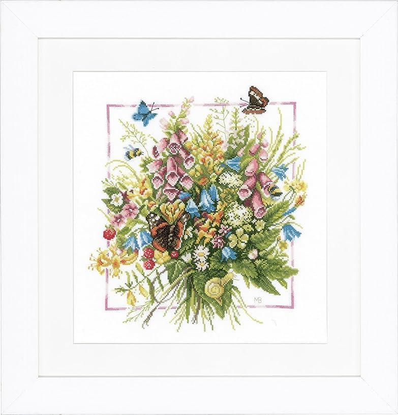 Lanarte Counted Cross Stitch Kit: Summer Bouquet (Aida,W)