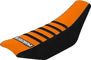 Enjoy MFG Ribbed Seat Cover for 2002-2008 KTM SX 65 - Black Sides / Orange Top / Black Ribs