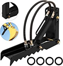 Mophorn 24 inch Hydraulic Backhoe Excavator Thumb Attachments Weld On 1/2in Teeth Thick Steel Plate Assembly 12MM Bolt-On Design with Hydraulic Cylinder