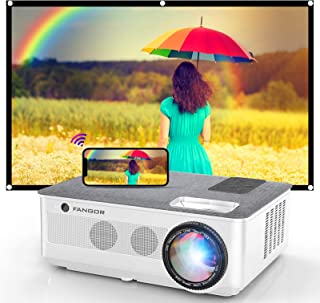 1080P Projector, FANGOR 2021 WiFi Projector Bluetooth Support, 7500 Lux Movie Projector 4K Video Support, Home Projector C...