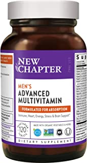 New Chapter Men's Multivitamin + Immune Support, Men's Advanced Multi (Formerly Every Man), Fermented with Whole-Foods & P...