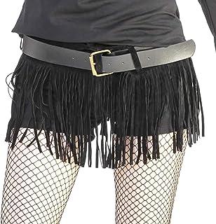 [RONDEL-BLACK(ロンデルブラック)]フリンジ スエード ベルト 幅広 黒 ブラック ダンス衣装 ベルト NF