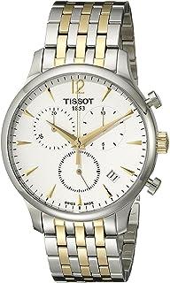 ساعة تيسو للرجال T0636172203700 تراديشون انالوج بعقارب تعرض كوارتز سويسرية بلونين