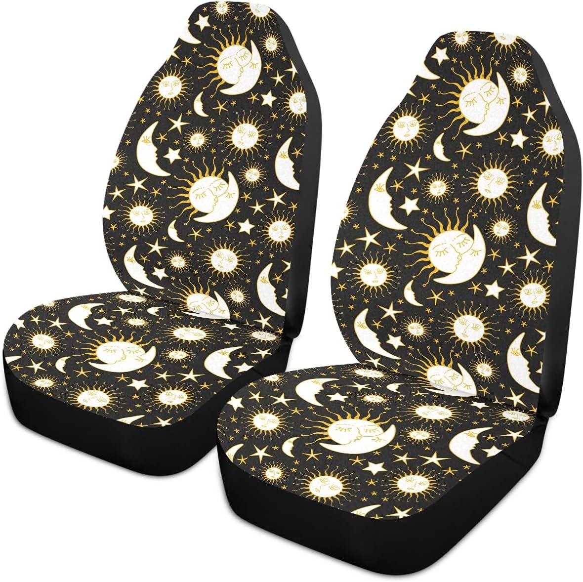Oarencol Boho Sun Stars Moon Car Sale price Bohemian Gold Covers Unive Outstanding Seat
