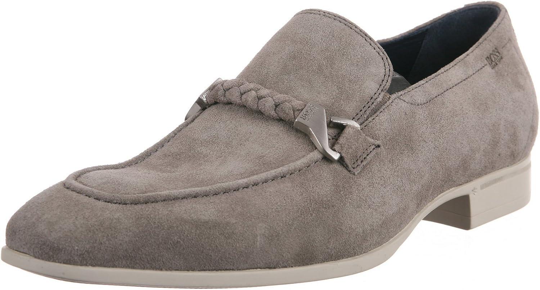 BOSS Black Men's Vermilo SH Medium Grey Loafer 11 D - Medium [Apparel]