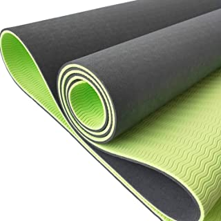 Yoga Mat - TPE Yoga Mat - Perfect Exercise Mat, Workout Mat, Fitness Mat - Non Slip Yoga Mat - 6mm Yoga Mat - With Yoga Ma...