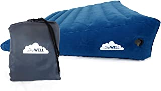 Extra Large Inflatable Portable Bed Wedge with Quick Inflate/Deflate Valve and Soft Surface