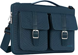 MOSISO 360 Protective Laptop Shoulder Bag Compatible with 13-13.3 inch MacBook Pro, MacBook Air, Notebook Computer, Polyester Briefcase Sleeve with Organizer Pockets, Deep Teal