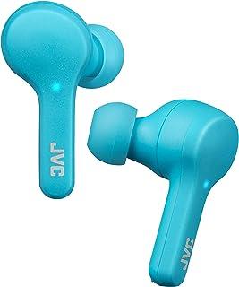 JVC Gumy - Auriculares inalámbricos con Bluetooth 5.0, Resistencia al Agua (IPX4), Larga duración de la batería (hasta 15 Horas), HAA7TA (Azul)
