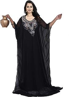 KoC Women wear Dubai Kaftan Farasha Caftan Long Maxi Dress Tunic Abaya Jalabiya