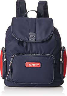 Tommy Jeans Varsity Nylon for Women, Navy - AW0AW06122 (M11000RR_Anchor Blue_Large)