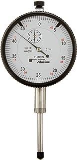 "Brown & Sharpe 01489022 Value line AGD 2 Dial Indicator, 2.25"" Dial Diameter, 1"" Range, 0.001"" Reading, White Face"