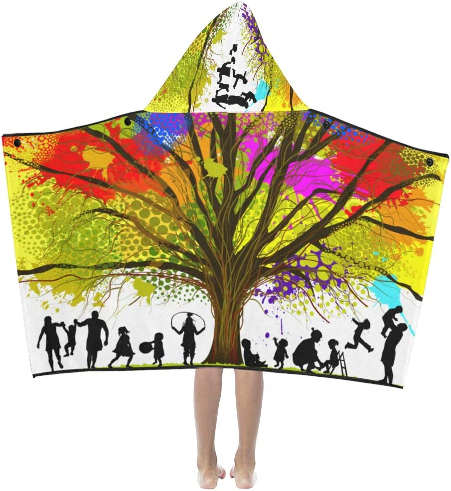 Bath Same day shipping Towel Boy Colorful Tree with Al sold out. Ink Paint Hoo Butterflies Kids