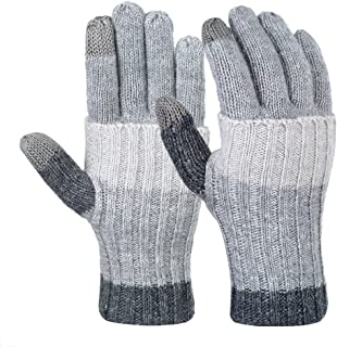 VBG VBIGER Women Winter Gloves Warm Touch Screen Gloves Chamois Leather Driving Gloves Fleece Thermal Gloves for Ladies