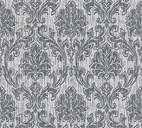 Esprit vliesbehang eccentric luxe behang met ornamenten barok 10,05 m x 0,53 Natuur grijs, donkergrijs, metallic