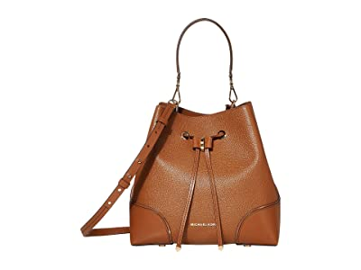 MICHAEL Michael Kors Mercer Gallery Medium Convertible Bucket Shoulder (Luggage) Shoulder Handbags