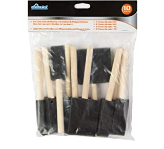 eHomeA2Z Foam Paint Brush Value Pack Lightweight, Great for Acrylics, Stains, Varnishes, Crafts, Art (10)