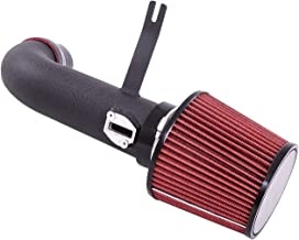 For 2013-2017 Nissan Altima (4 Cylinder 2.5L Engine Only) 2.75 Inch Aluminum High Flow Air Intake Kit Black Heat Shield Pipe with Red Filter