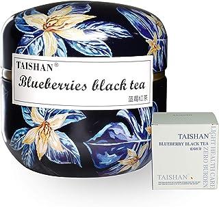 TAISHAN Organic Oolong | Green | Red Tea Triangle Bags, Fruit and Flower Tea,15 Count (Blueberries black tea)