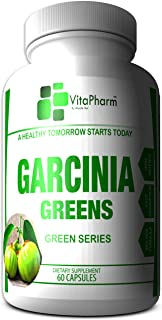 Garcinia Greens 95% HCA | Garcinia Cambogia Weight Loss Capsules. Diet Pills That Work Fast for Women & Men | All Natural High Potency | Plus Under $20 for A Limited Time | VitaPharm Nutrition