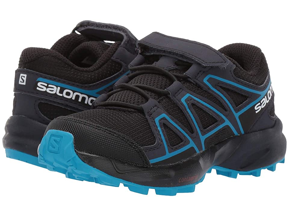Salomon Kids Speedcross Bungee (Toddler/Little Kid) (Black/Graphite/Hawaiian Surf) Kids Shoes