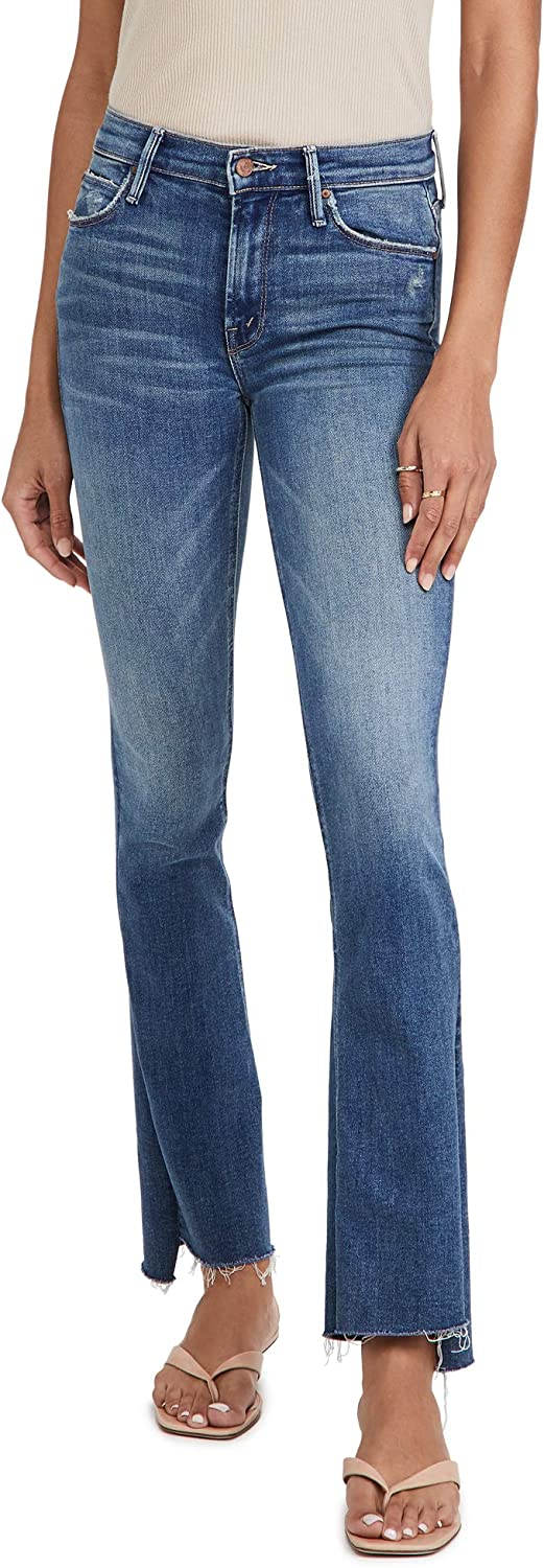 MOTHER Women's The Runaway Step Fray Jeans
