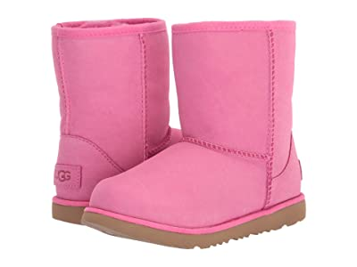 UGG Kids Classic Short II Waterproof (Little Kid/Big Kid) (Pink Azalea) Girls Shoes